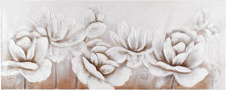 Premium collection by Home affaire Gemälde »Flowers«, Blumen, 150/60 cm
