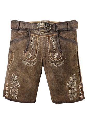 MARJO Odinės tautinio stiliaus kelnės trumpa...