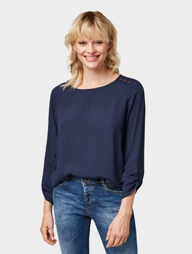 TOM TAILOR Denim Shirtbluse »Schlichtes Blusenshirt«