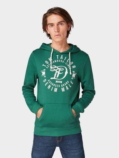 TOM TAILOR Denim Sweatshirt »Hoodie mit Logo-Print«