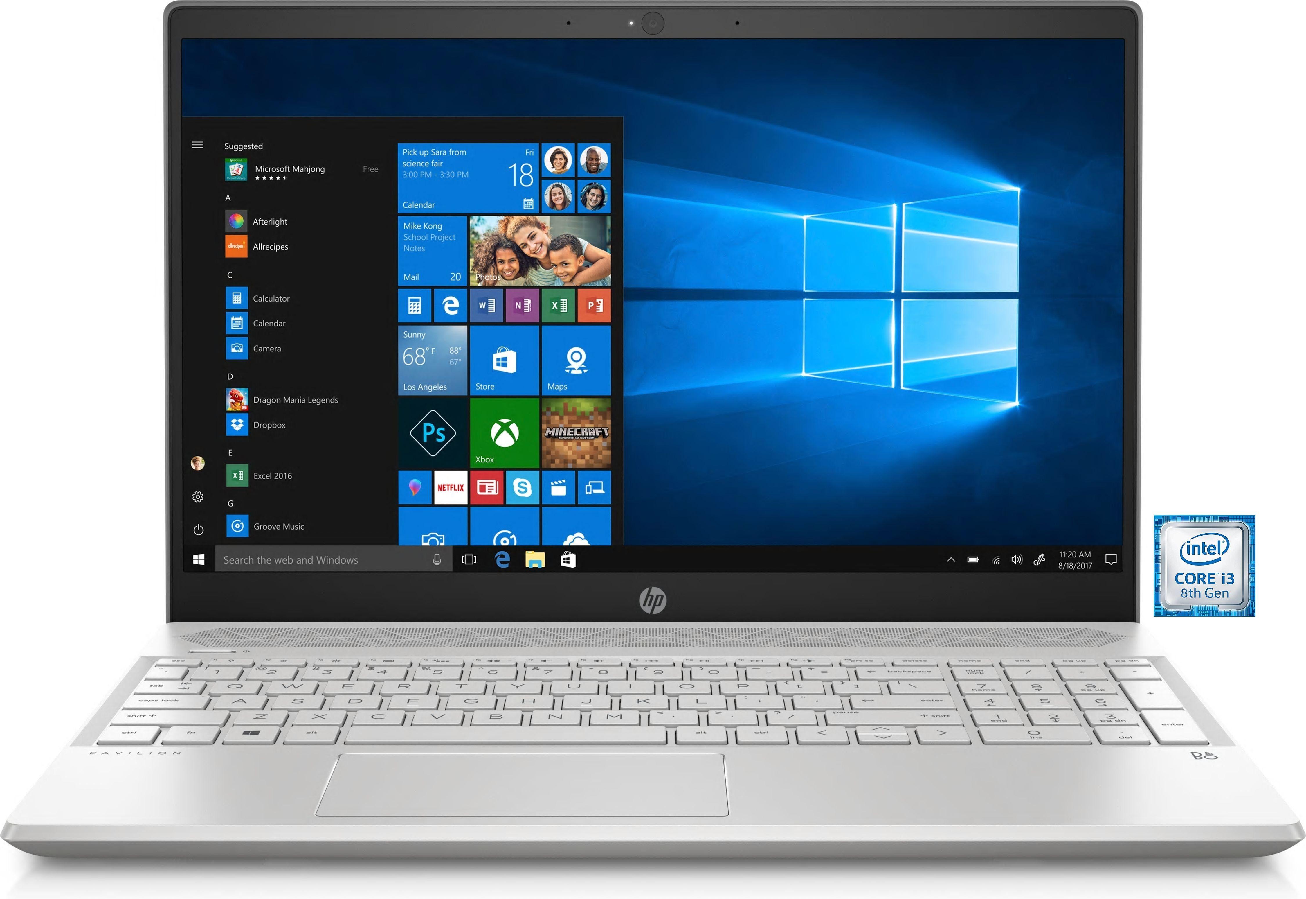 "HP Pavilion 15-cs0002ng »39,6 cm (15,6"") intel Core i3, 256 GB + 1 TB, 8 GB«"
