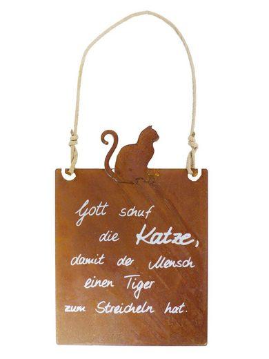 BADEKO Hängedekoration »Deko Tafel - Katze - Rost Dekoration zum Hängen«