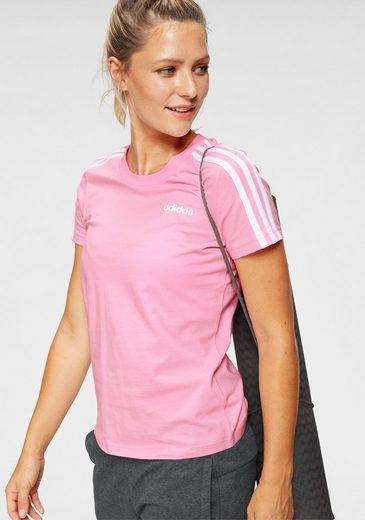 adidas T-Shirt »ESSENTIALS 3 STRIPES SLIM TEE«