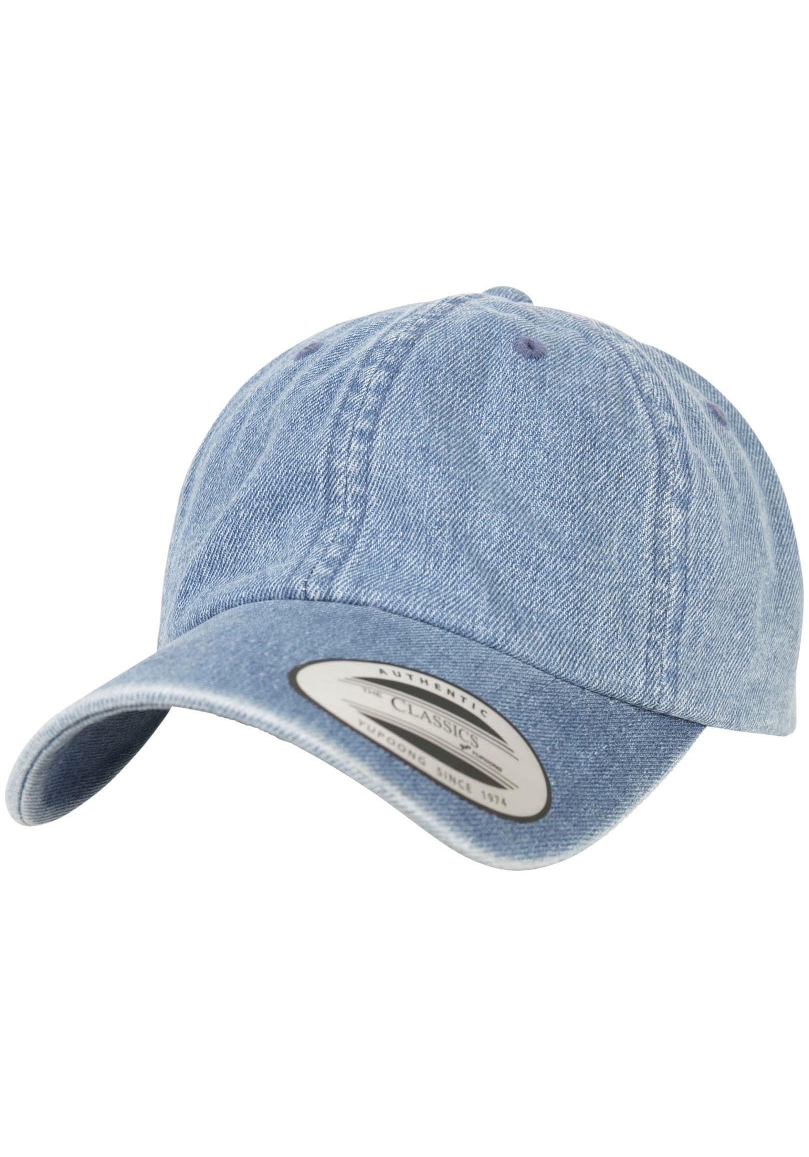 Flexfit Baseball Cap Low Profil Dad Cap, Denim Look, Jeans Style