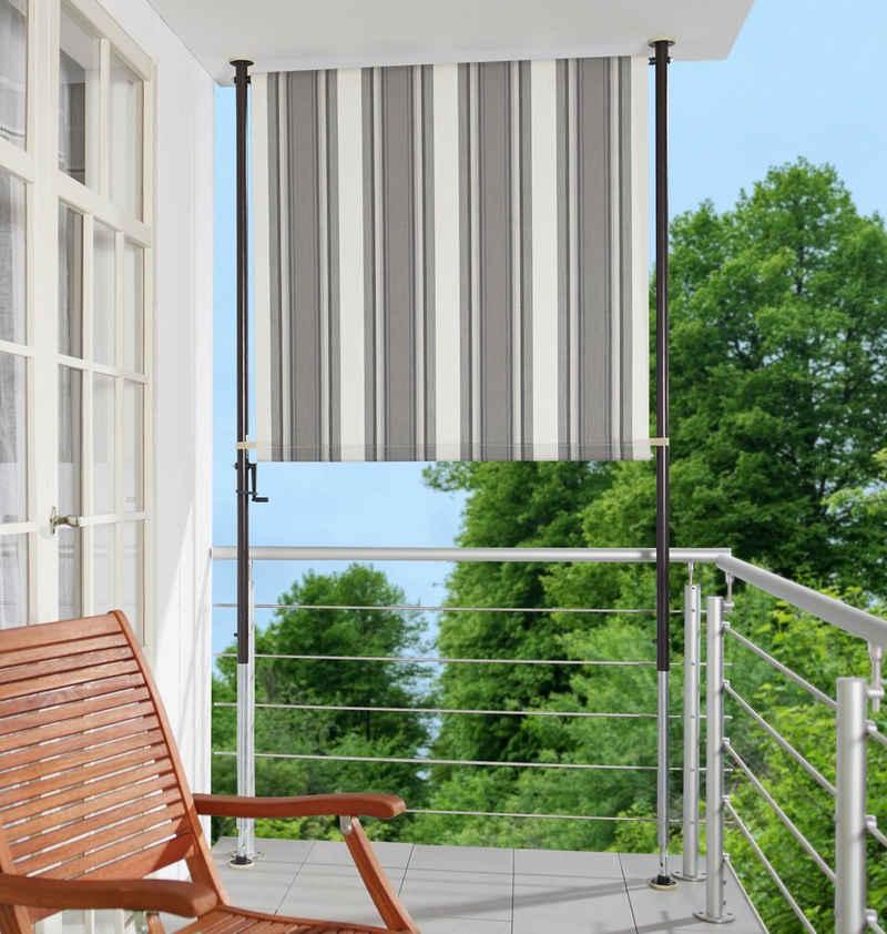 Angerer Freizeitmöbel Klemm-Senkrechtmarkise anthrazit/grau, BxH: 120x225 cm