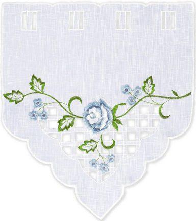 Scheibengardine »Blaue Rose«, Delindo Lifestyle, Stangendurchzug (2 Stück)