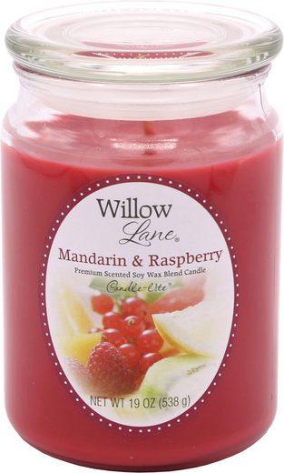 Candle-lite™ Duftkerze »Willow Lane - Mandarin & Raspberry« (1-tlg)