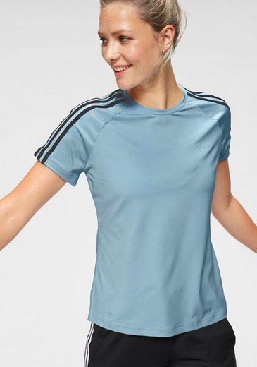 adidas T-Shirt »DESIGN TO MOVE 3 STRIPES TEE« Mesheinsatz mit Schlitz am Rücken