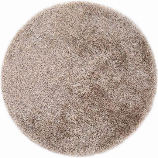 Hochflor-Teppich »Churchill«, LUXOR living, rund, Höhe 58 mm, Besonders weich durch Microfaser