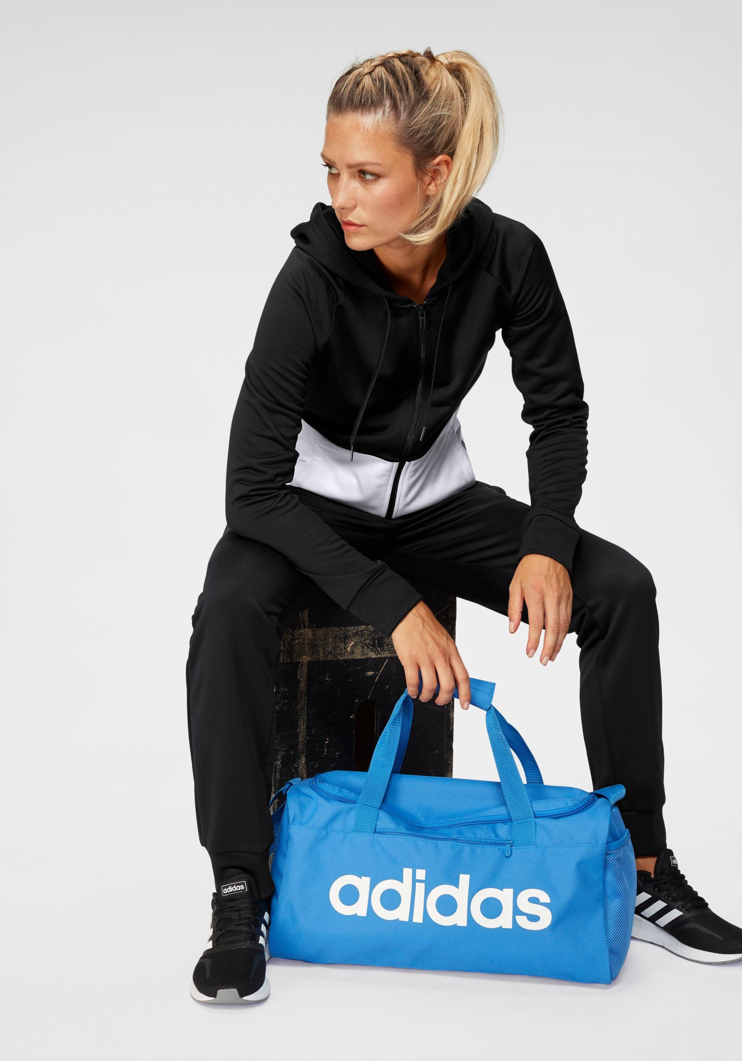 adidas Trainingsanzug »WOMEN TRACKSUIT LINEAR FRENCH TERRY« (Set, 2 tlg) online kaufen | OTTO