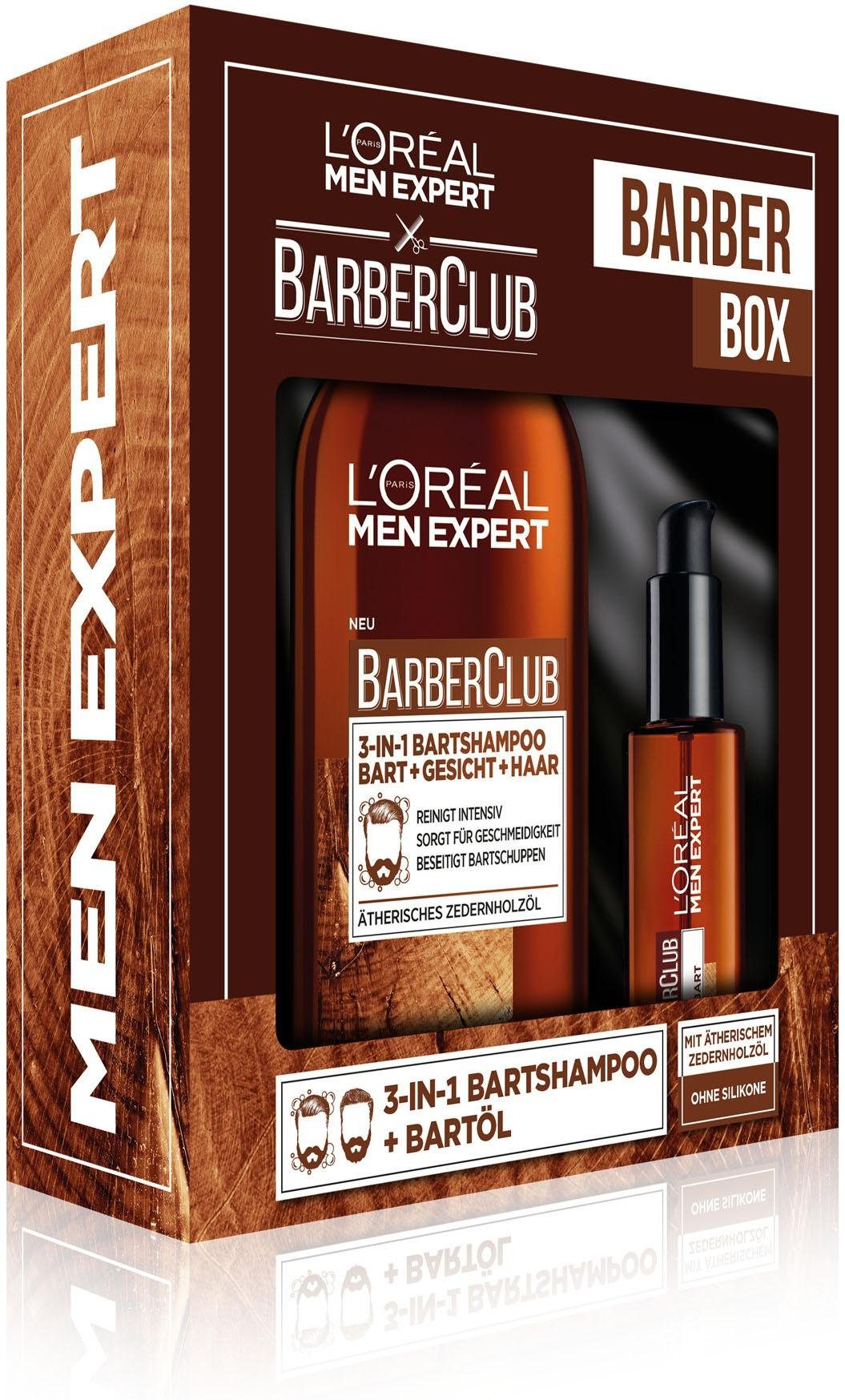 L'Oréal Paris Men Expert, »Barber Club Bartöl und 3-in-1 Bartshampoo«, Geschenkset (2-tlg.)