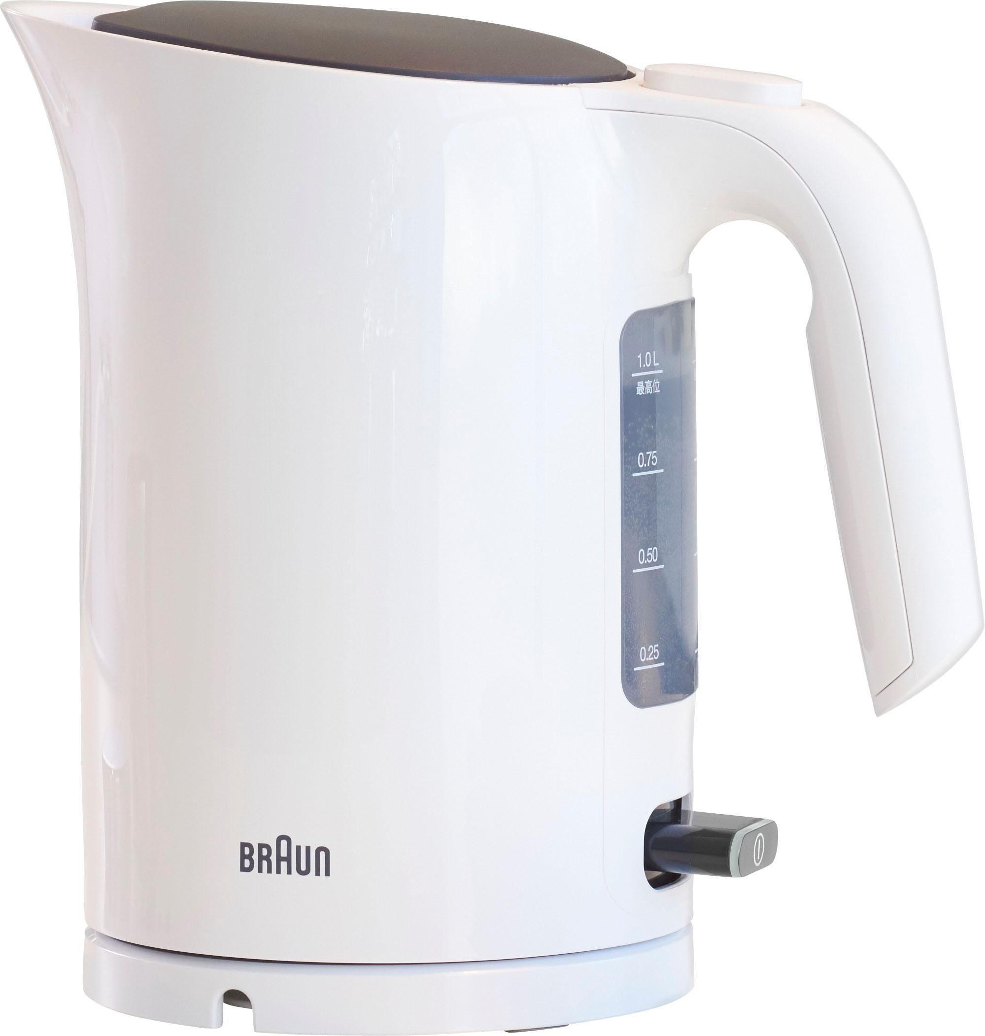 Braun Wasserkocher WK 3100 WH, 1,7 l, 2200 W