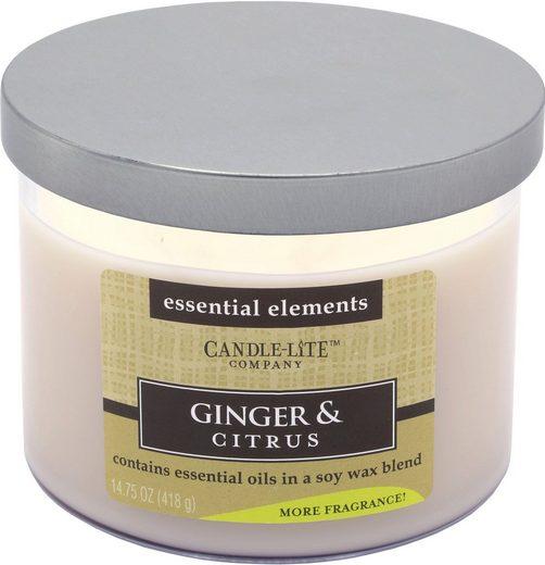 Candle-lite™ Duftkerze »Essential Elements - Ginger & Citrus«