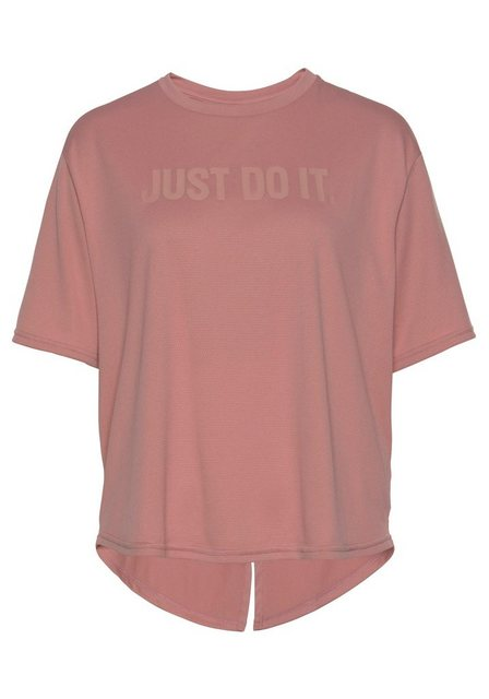Damen Nike Funktionsshirt WOMEN NIKE DRY TOP SHORT SLEEVE rosa | 00191885510712