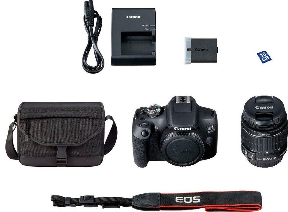 b3ef1de6417 Canon »EOS 2000D EF-S 18-55 IS II Value Up Kit« Spiegelreflexkamera ...