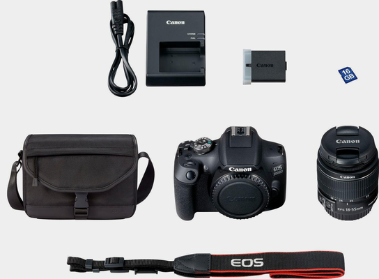 Canon »EOS 2000D EF-S 18-55 IS II Value Up Kit« Spiegelreflexkamera (EF-S 18-55 IS II, 24,1 MP, NFC, WLAN (Wi-Fi)