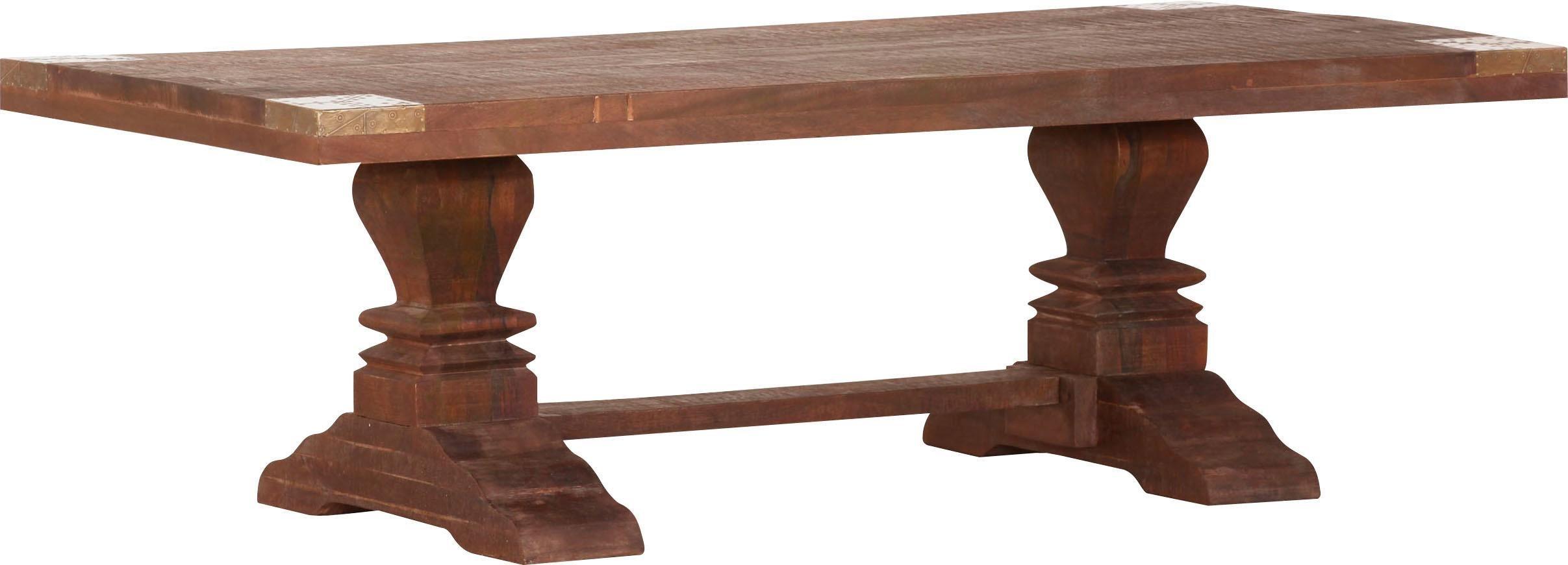 Gutmann Factory Couchtisch »Oriental« aus Massivholz Mango, mit aufwändig gearbeitetem Fußgestell | Wohnzimmer > Tische > Couchtische | Mango | Holz - Mango - Massiv | Gutmann Factory