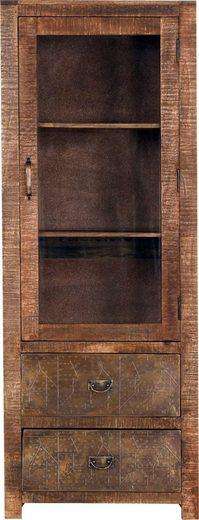Gutmann Factory Vitrine »Oriental« aus Massivholz Mango, mit Metallapplikationen