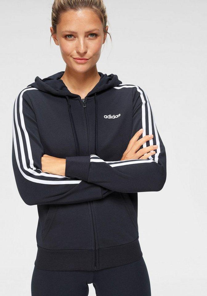 54fac5547cd89 adidas Kapuzensweatjacke »ESSENTIALS 3 STRIPES FULL ZIP HOODIE«