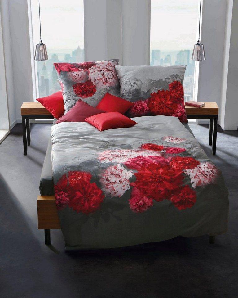 bettw sche flamenco kaeppel mit bl ten motiven. Black Bedroom Furniture Sets. Home Design Ideas