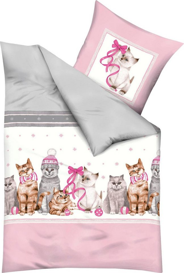 bettw sche christmas cat kaeppel mit s en katzen motiven online kaufen otto. Black Bedroom Furniture Sets. Home Design Ideas