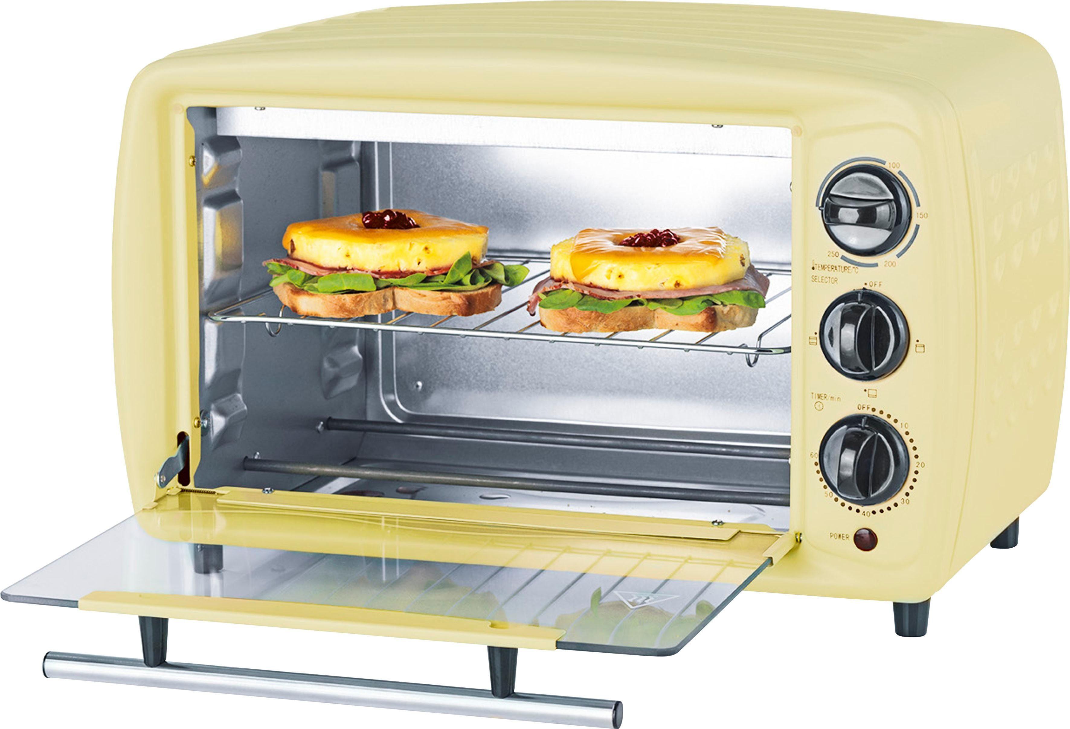 Retro Kühlschrank Vanille : Gourmetmaxx minibackofen infrarot ofen retro l w