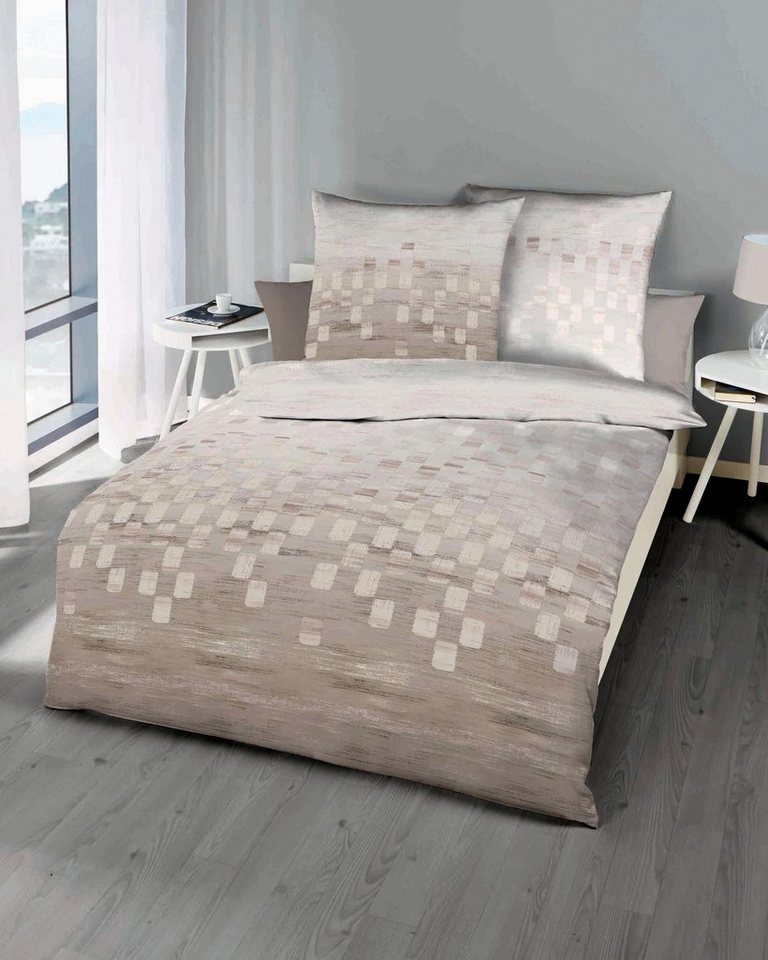 bettw sche domino kaeppel mit kleinen vierecken online kaufen otto. Black Bedroom Furniture Sets. Home Design Ideas