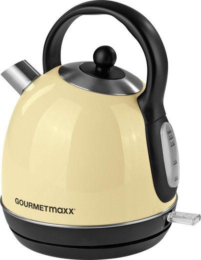 GOURMETmaxx Wasserkocher Retro 2200W - vanille, 1,7 l, 2200 W