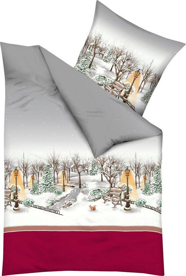 Bettwasche Central Park Kaeppel Mit Winterlicher Landschaft Online Kaufen Otto