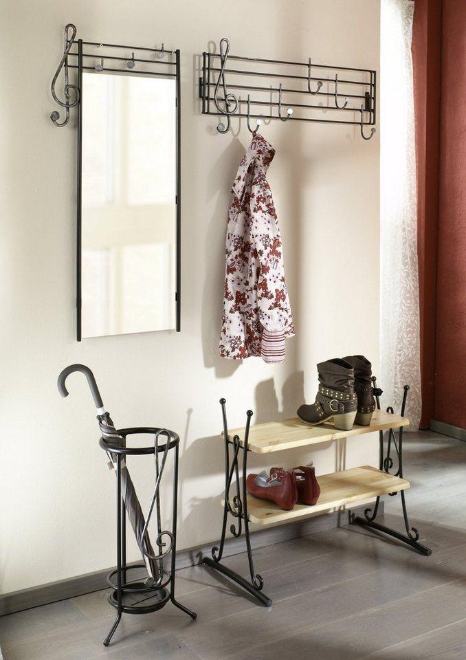 home affaire garderobe und spiegel noten 2er set. Black Bedroom Furniture Sets. Home Design Ideas