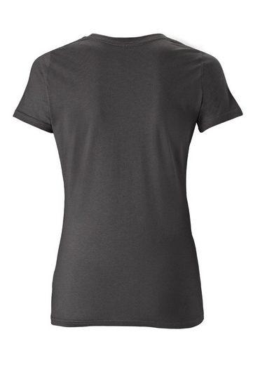 shirt Mit Coolem Logoshirt T frontprint Woman« Wonder Woman Dunkelgrau »wonder wO8nkP0