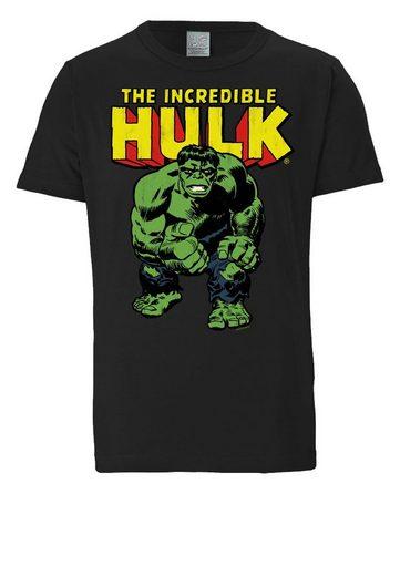 Herrenshirt Schwarz Incredible« Logoshirt The »hulkMarvel vNOm80ynw