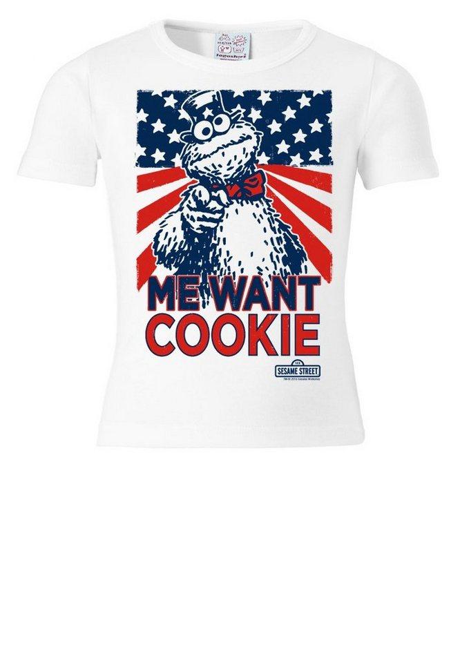 15c88bcf7b LOGOSHIRT T-Shirt mit Krümelmonster-Frontdruck »Cookie Monster - Me Want  Cookie«