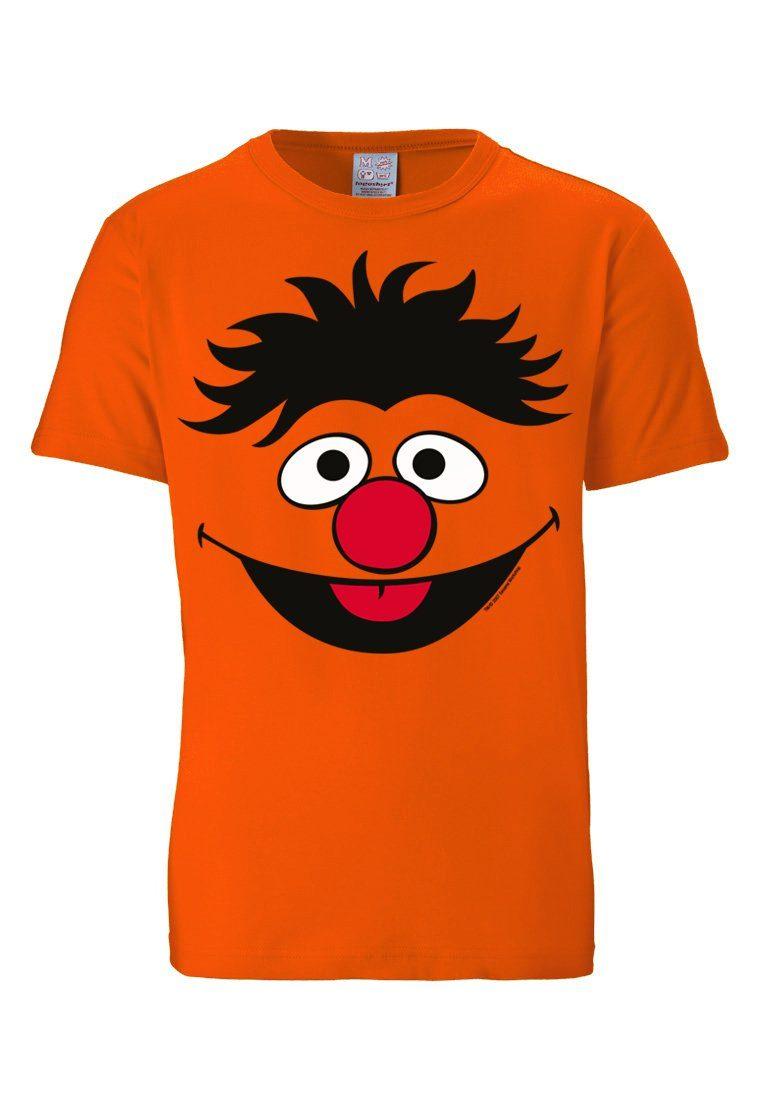 Girls Shirt Ernie /& Bert Frauen T-Shirt Sesamstrasse grau LOGOSHIRT