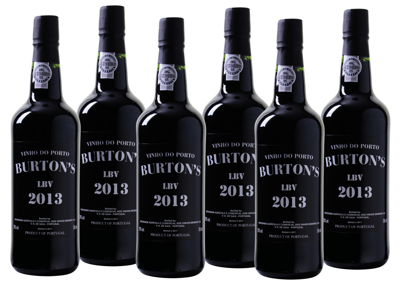 Portwein aus Portugal »20,0% 6 x 0,75 Liter - Burton's - Late Bottled Vin«