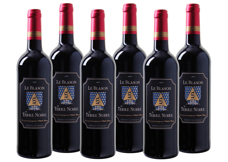 Rotwein aus Frankreich »13,5% 6 x 0,75 Liter - Le Blason de Terre Noire 20«