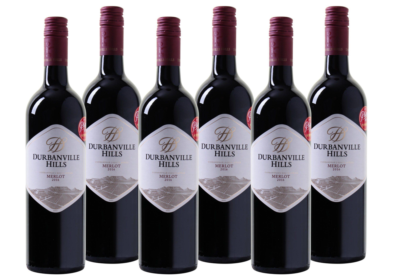 Rotwein aus Südafrika »14,0% 6 x 0,75 Liter - Durbanville Hills 2016«