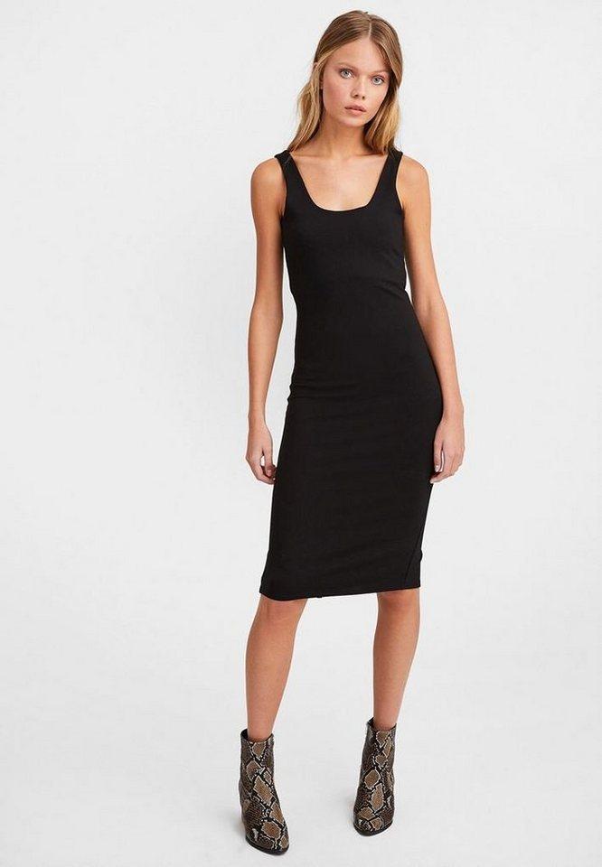 Oxxo Shirtkleid Figurbetonendes Kleid Mit Tiefem Ruckenausschnitt