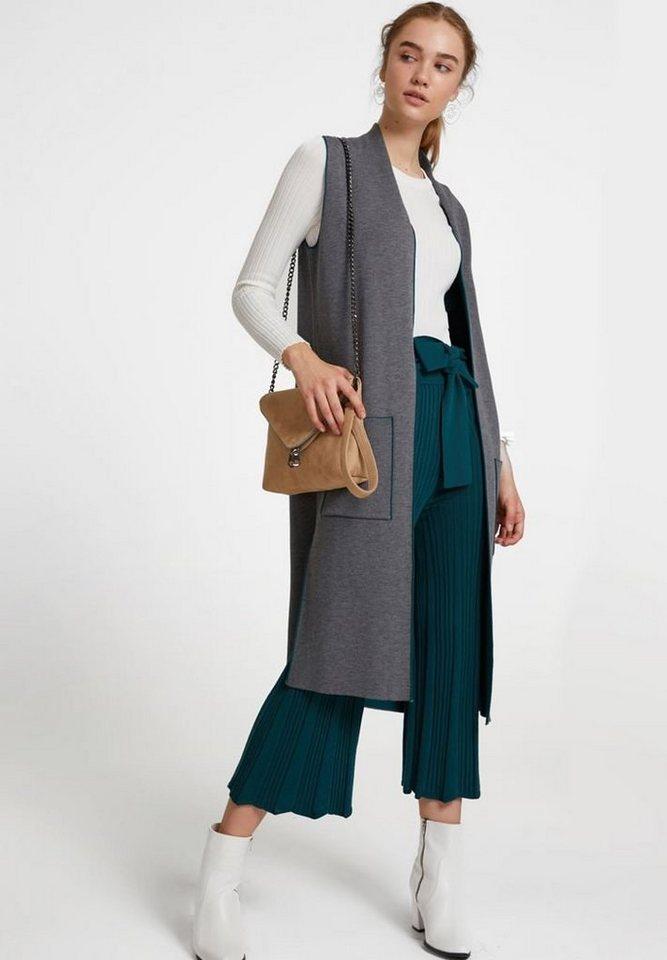 OXXO Longweste mit stylischen seitlichen Taschen   Bekleidung > Westen > Longwesten   Bunt   Jeans   OXXO