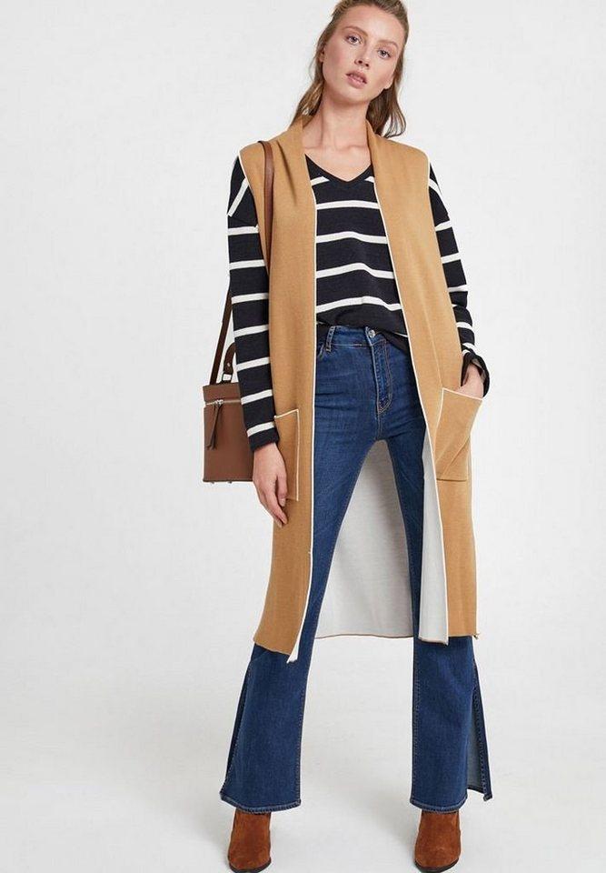 OXXO Longweste mit stylischen seitlichen Taschen | Bekleidung > Westen > Longwesten | Blau | OXXO