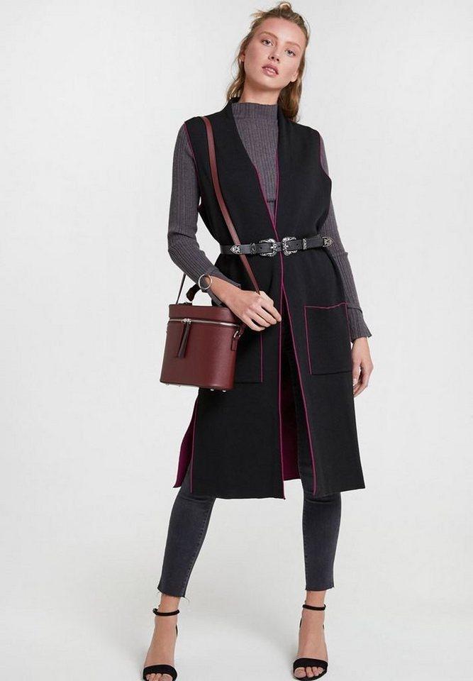 OXXO Longweste mit stylischen seitlichen Taschen | Bekleidung > Westen > Longwesten | Bunt | OXXO