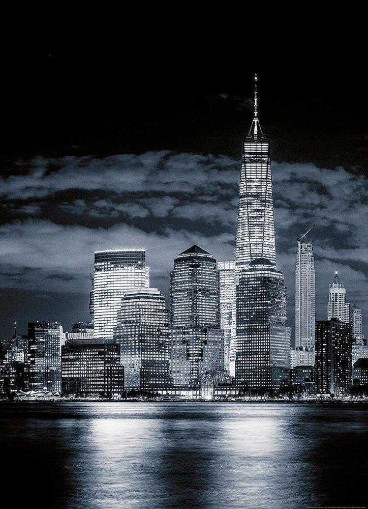 IDEALDECOR Fototapete »Skyline von Manhattan«, Vlies, 2 Bahnen, 183 x 254 cm