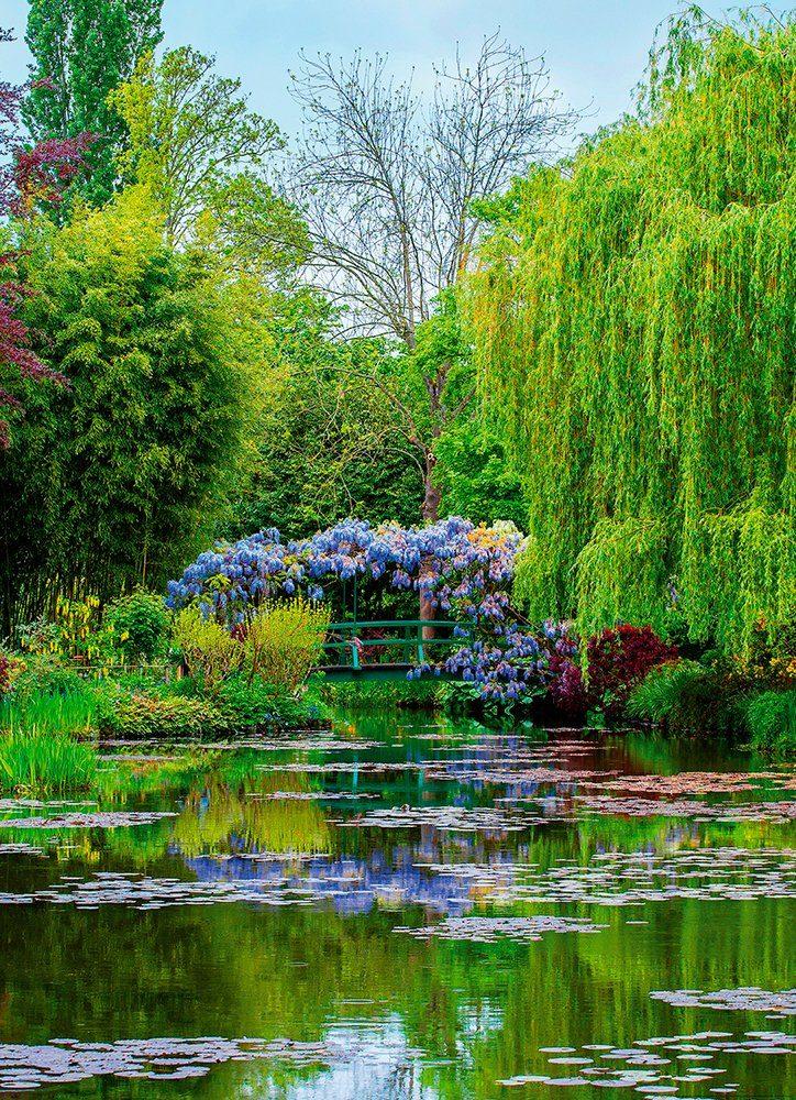 IDEALDECOR Fototapete »Monets Garten Frankreich«, BlueBack, 2 Bahnen, 183 x 254 cm