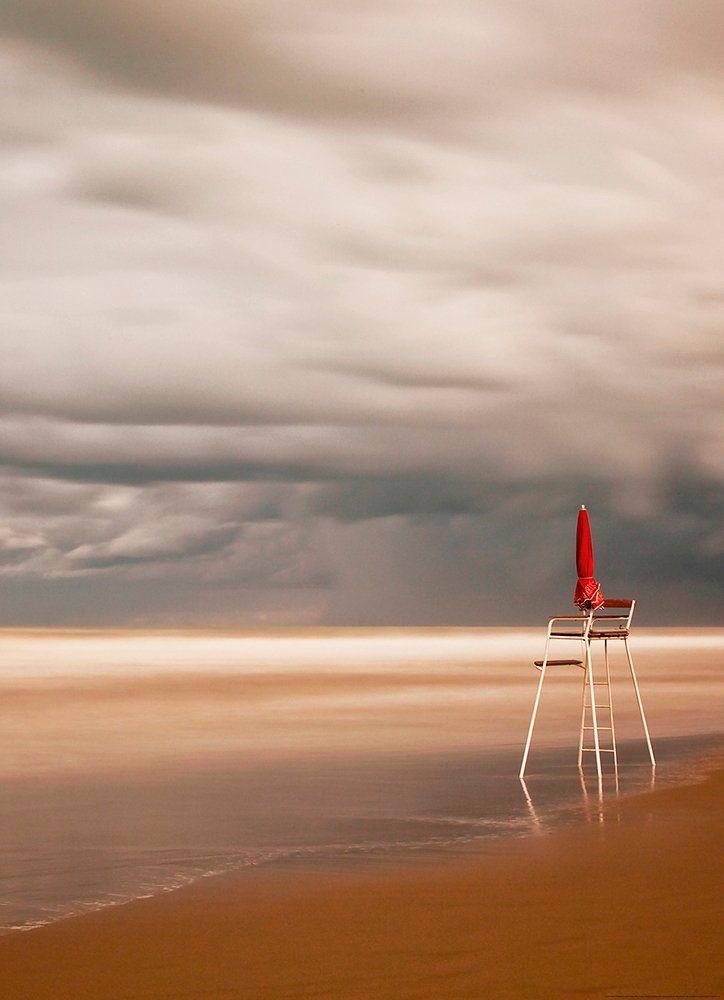 IDEALDECOR Fototapete »Stuhl Strand«, Vlies, 2 Bahnen, 183 x 254 cm
