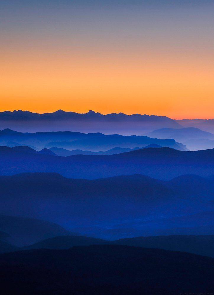 IDEALDECOR Fototapete »Berge«, BlueBack, 2 Bahnen, 183 x 254 cm