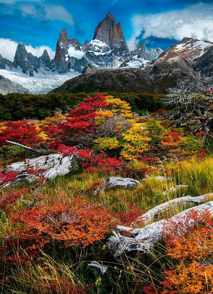 IDEALDECOR Fototapete »El Chalten Argentinien«, BlueBack, 2 Bahnen, 183 x 254 cm