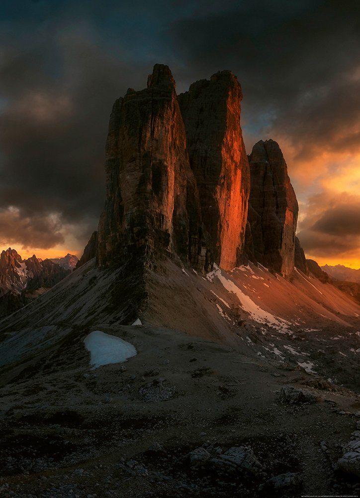 IDEALDECOR Fototapete »Dolomiten Italien«, Vlies, 2 Bahnen, 183 x 254 cm