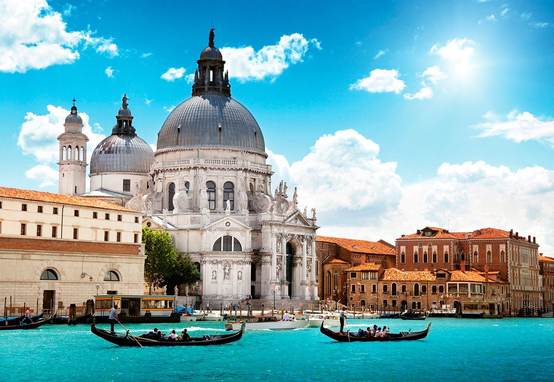 IDEALDECOR Fototapete »Santa Maria Venedig Italien«, BlueBack, 4 Bahnen, 368 x 254 cm
