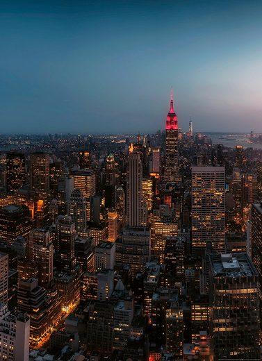 IDEALDECOR Fototapete »New York City USA«, Vlies, 2 Bahnen, 183 x 254 cm