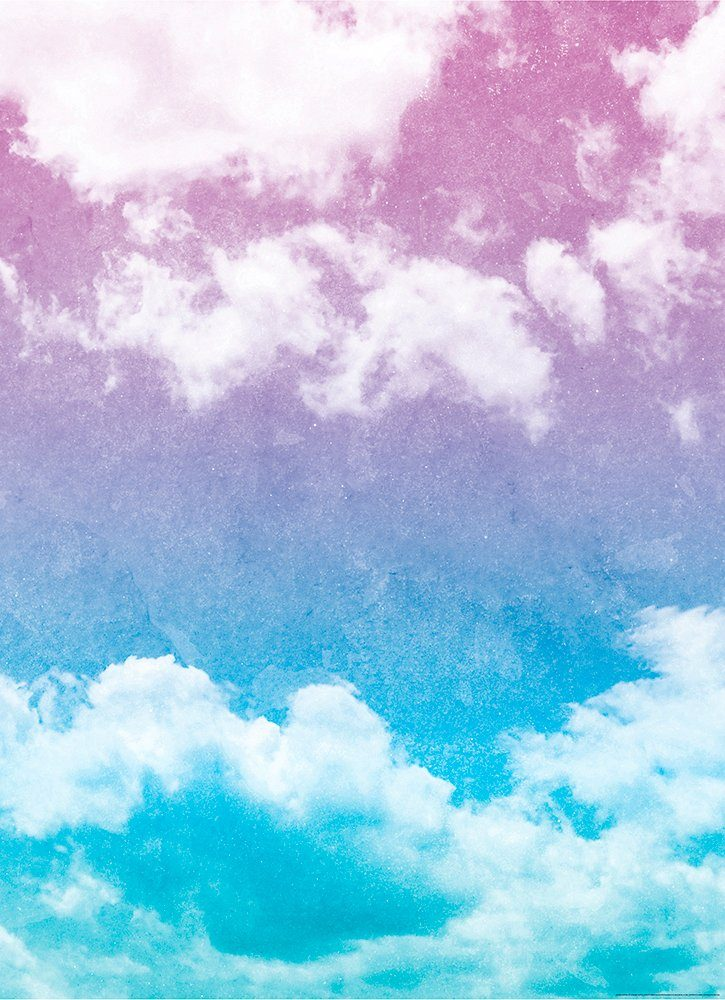 IDEALDECOR Fototapete »Grunge Himmel«, Vlies, 2 Bahnen, 183 x 254 cm